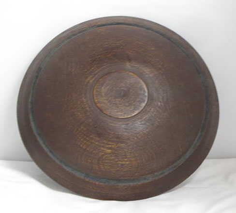 Brown Painted Bowl with Blue Incised Ring