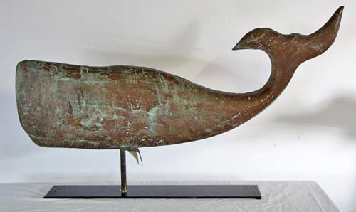 Weathervanes >> Griffiths Antiques - Utica, New York - Whale Weathervane